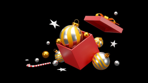 Christmas and happy new year in black background. clipping path.