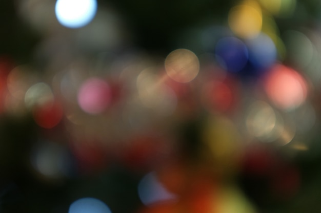 Christmas and happy new year  on blurred bokeh christmas tree  banner background