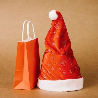 Christmas hat and bag