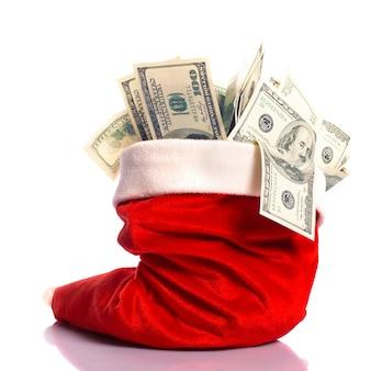 돈이 가득 크리스마스 모자