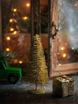 Christmas holiday celebration and new year concept. winter holiday background.
