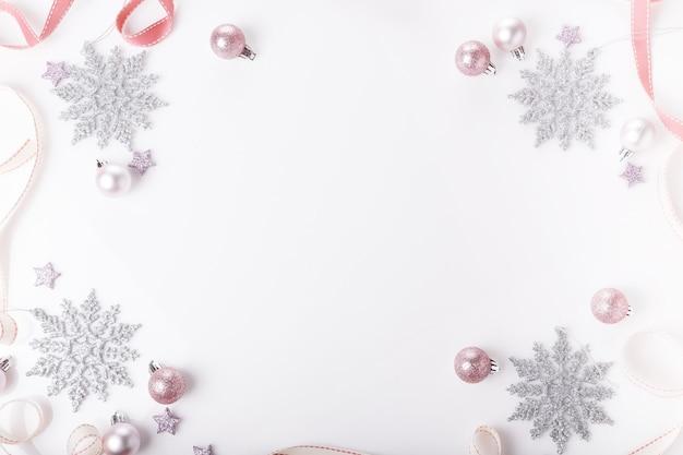 Рождественский праздник композиция праздничный креативный золотой серебряный узор рождественский розовый декор праздничный бал