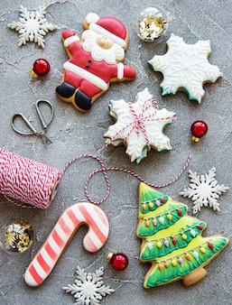 Christmas holiday gingerbread cookies