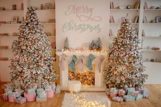 Christmas holiday living room decor