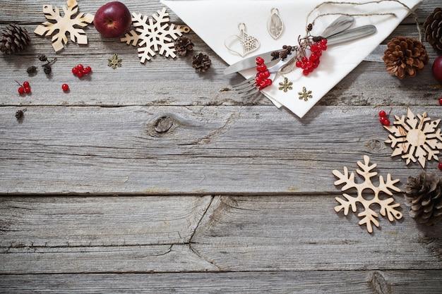 Christmas holidays table