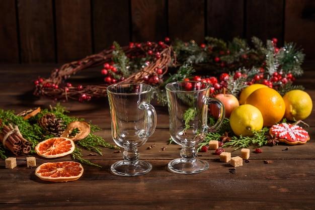 クリスマスシナモンカルダモンとアニスのホットホットワイン