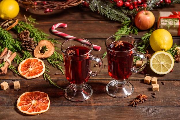 クリスマスシナモンカルダモン入りホットホットワイン