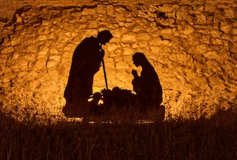 Christmas installation on the theme of the birth of Jesus Christ