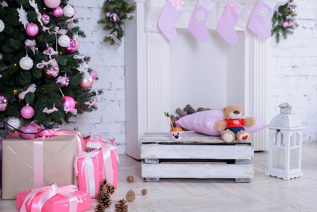 거실의 크리스마스 인테리어
