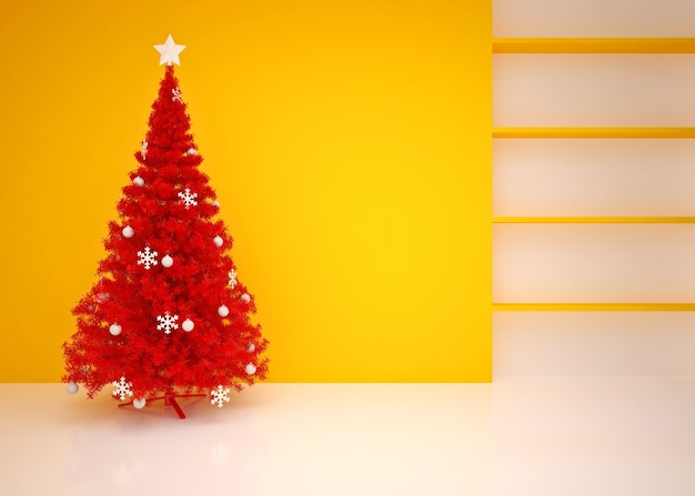 Рождественский интерьер с елкой