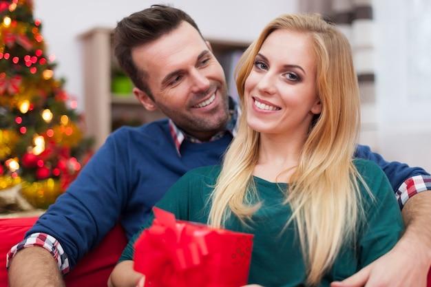 このカップルにとって、クリスマスはいつも幸せな時期です