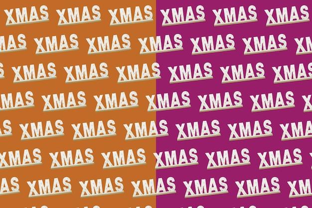 クリスマスの等角投影パターン、背景、バナー。クリスマスサンタクロースパンツで作られた最小限の構成。上面図。休日の新年のコンセプト。クリスマスプレゼント、おめでとうございます