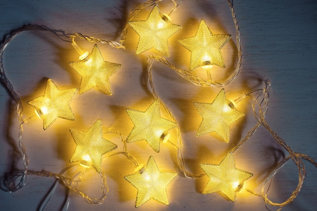 Christmas lamp star on white background