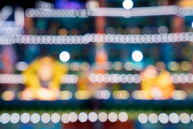 Рождественский свет украшения размытый фон праздничная концепция ночью, боке