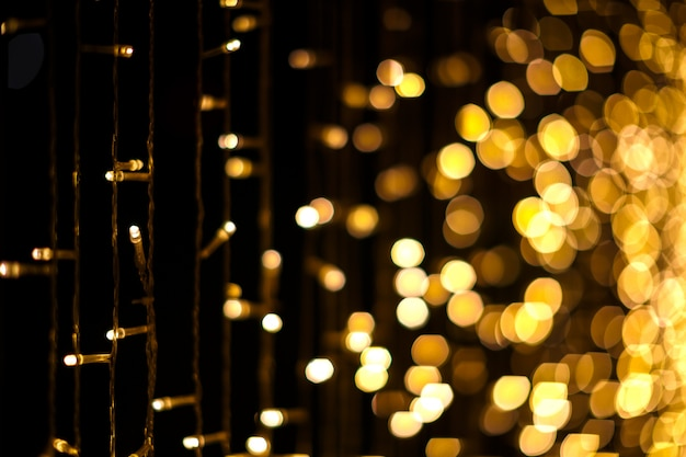 Christmas lights bokeh background Premium Photo