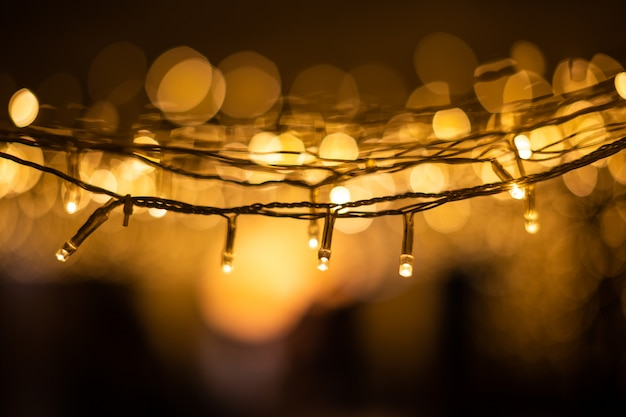 Christmas lights bokeh background