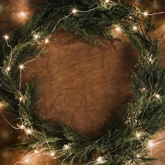 크리스마스 조명 원형 형성