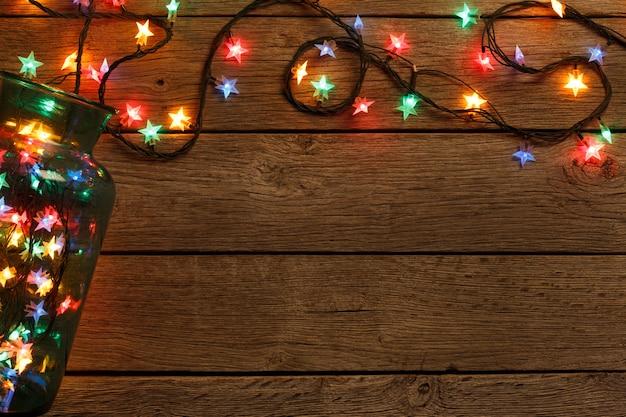 Рождественские огни из стеклянной банки