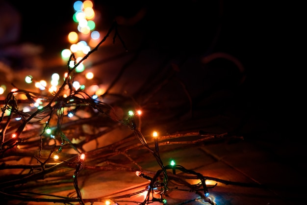 Christmas lights of colors