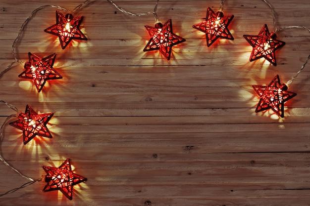 나무 배경 크리스마스 불빛