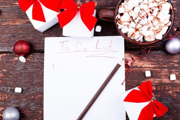 Christmas to do list.