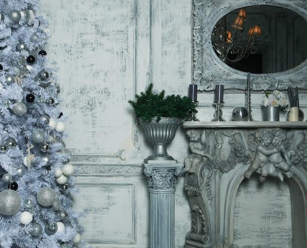 Рождественская гостиная с деревом