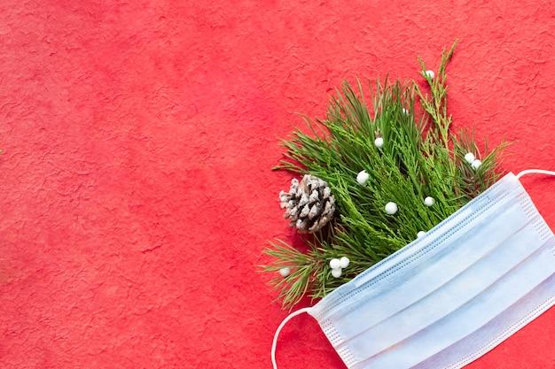 クリスマス医療フラットは赤に横たわっていた