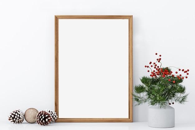 Christmas mockup frame holiday mockup