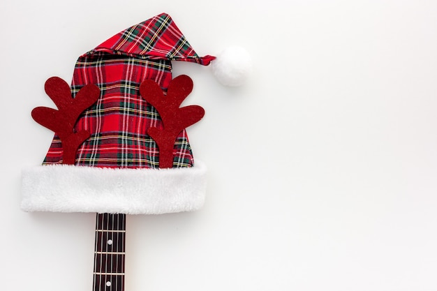 Christmas music composition with guitar