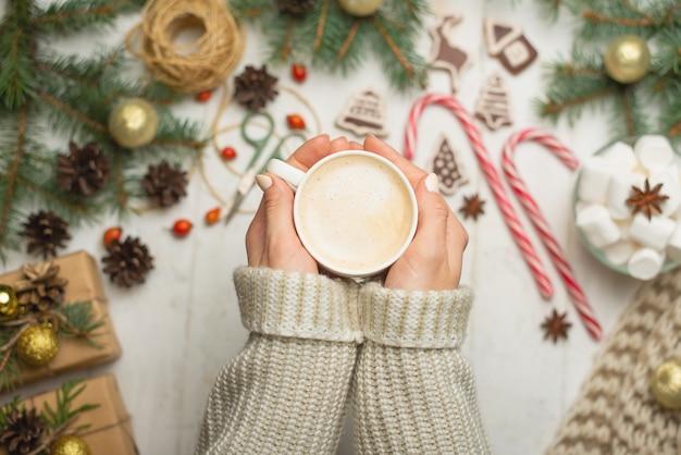 クリスマス、新年の背景。