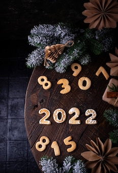 Christmas and new year cookies