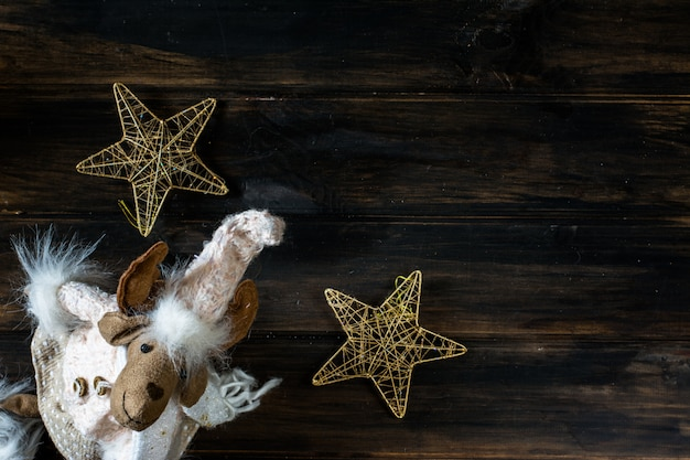 Christmas new year elk. christmas background. new year background. christmas composition.