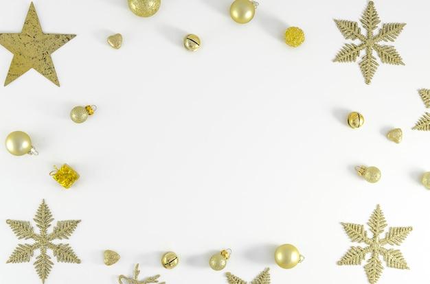 크리스마스, 새 해 프레임 구성 복사 공간. 휴일 축하 개념 엽서 또는 프리미엄 사진