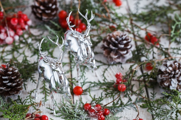 Christmas and new year holiday decoration.