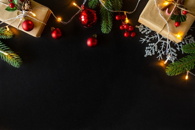 Christmas and new year holidays background decorated house theme.