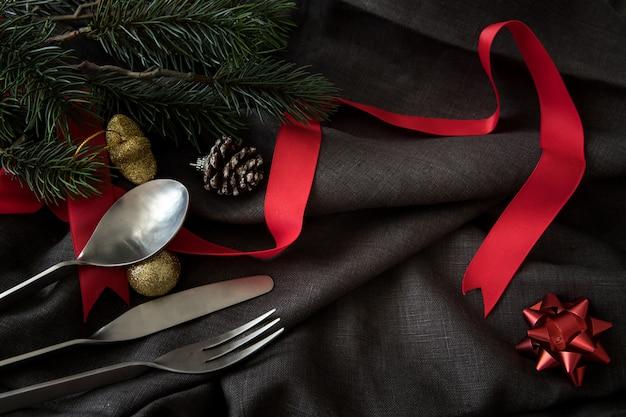 Рождество новый год участник стола ужин фон празднуют время