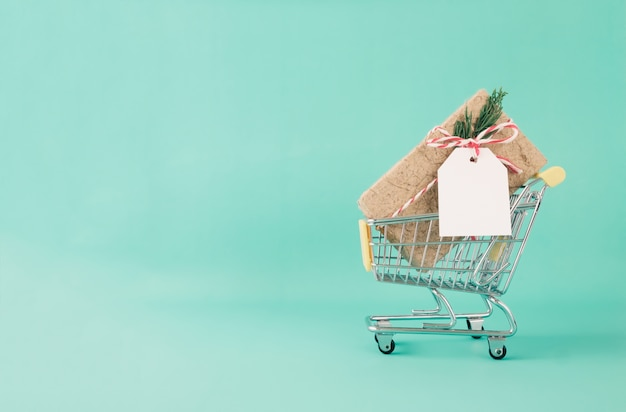 Christmas, new year shopping and delivery concept