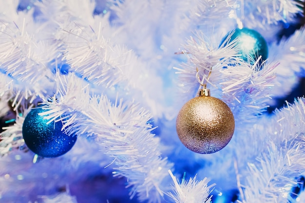Christmas new year tree decorations