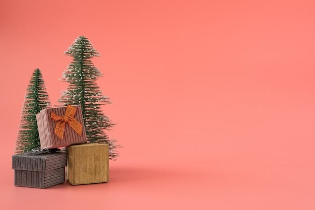 Рождество новый год с подарком фоне празднуют время счастливого особого случая