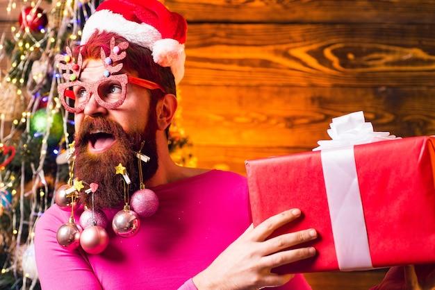 Рождество или новый год концепция парикмахерской