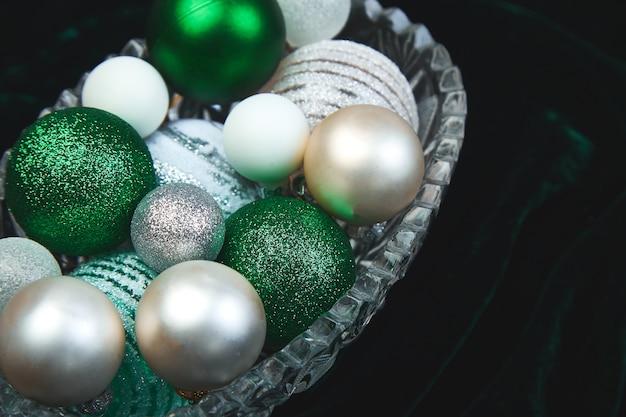 크리스마스 또는 새해 준비. 평평하다