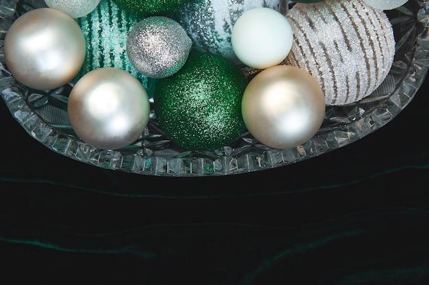 クリスマスまたは新年の準備。平置き