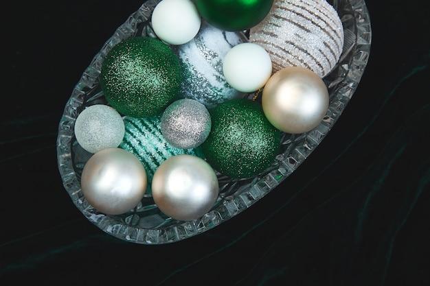 크리스마스 또는 새해 준비. 플랫 레이