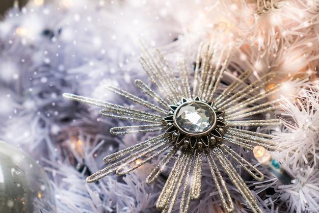 Christmas ornament on a tree