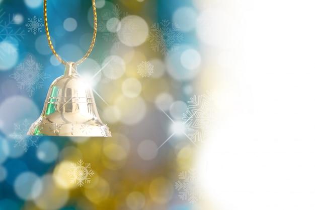 Рождественские украшения с колокольчиком и боке