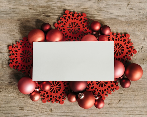 Christmas ornaments with white space for text