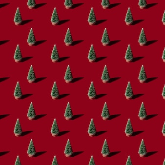 배경에 크리스마스 patern 전나무 나무입니다. 개념 새해 숲