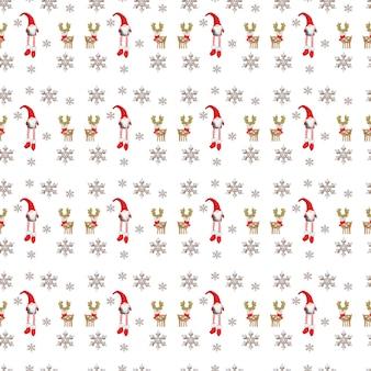 白い背景の上のクリスマスパターン冬の装飾新年の背景