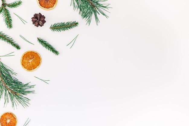 전나무 나무 소나무 가지와 크리스마스 패턴