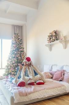 집에서 크리스마스 사진 가족